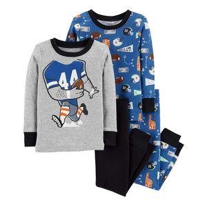 Carter's Toddler Football 4-Piece Pajama Set, 4T